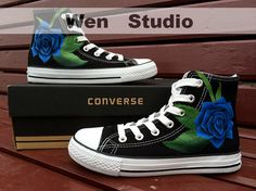 Hey, I found this really awesome Etsy listing at https://www.etsy.com/listing/184019557/blue-rose-converse-design-rose-custom  So...expensive...but SO BEAUTIFUL!!!
