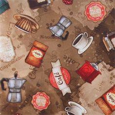 """""""Café Gourmet"""" cardápio em dupla faixa - marrom (estampa digital)"""