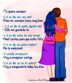 Te quiero y te amo con toda mi alma!!