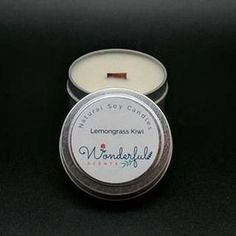 Wonderful Scents Soy Wax Travel Tin Candles With Wood Wick - 4 oz #candles #candle #soycandles #scentedcandles #melts #essentialoils #essentialoil #scents #fragrance #aromas #diffuser #natural #organic #aromatherapy #selfcare #selflove #healthy #gifts #giftsforher #relax #Wellbeing #wellness #HealthTips Tin Candles, Soy Wax Candles, Scented Candles, Candle Jars, Wax Machine, Essential Oil Candles, Soy Products, Instagram, Aromatherapy