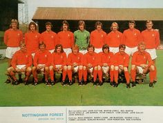 Nottingham Forest team group in Nottingham Forest, Back Row, Team Photos, Anglia, 1970s, England, Football, Group, Division