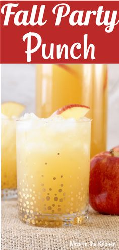 Easy Fall Party Punch is so simple with just 3 ingredients and it's just bursting with fall flavor! Perfect for any fall holiday or family get together and is sure to be loved by both kids and adults.#missinthekitchen #falldrinks #partypunch #applecider #gingeralepunch #thanksgiving #thanksgivingpunch