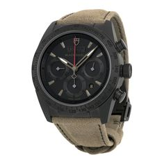 Tudor Fastrider Blackshield Black Dial Alcantara Leather Strap Men's Watch 42000CN-AL - Fastrider - Tudor - Watches - Jomashop