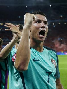 #EURO2016 Cristiano Ronaldo of Portugal during the UEFA EURO semifinal match between Portugal and Wales on July 6 2016 at the Stade de Lyon in Lyon France