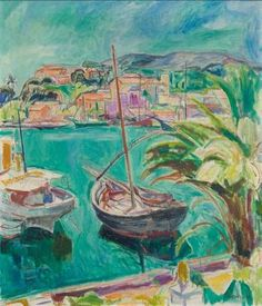 Harbour with sailing boats (Ischia) by HANS PURRMANN