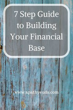 Your Financial Base is what you build your Financial Future on, make sure it is…