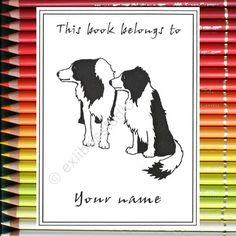 Ex Libris Bordercollie Dogs 15 Personalized Bookplates by Exlibrisstudio, $10.00