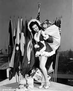Merry Christmas wishes to the whole world from Ann Miller. #vintage #Christmas #actress