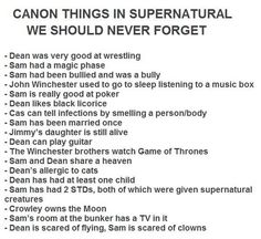 :D canon things we should never forget