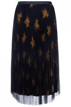 Steffen Schraut Damen Plisseerock mit Blumen Marineblau | SAILERstyle Tie Dye Skirt, Skirts, Fashion, Elegant Clothing, Red, Florals, Curve Dresses, Moda, Fashion Styles