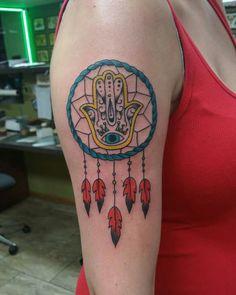 Love Love my personalized tattoo Mom Tattoos, Hand Tattoos, Tatoos, Hamsa Hand Tattoo, Tattoo Ideas, Tattoo Designs, Cute Tats, Dream Catcher Tattoo, Dreamcatchers