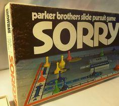"1972 ""SORRY"" board Game"