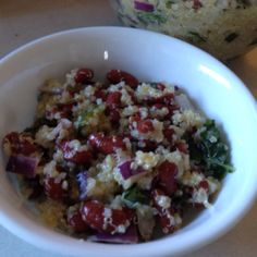 Quinoa Salad- Delicious and fresh!   Basil Lemon Quinoa     2 20oz cans kidney beans rinsed and drained  2 cups cooked quinoa-red or white (I prefer red for this dish)  ¼ c red onion, finely chopped  2 bunches of basil, stems discarded and leaves chopped  2 lemons juiced  1/2c extra virgin olive oil  Kosher salt to taste  Pepper to taste   Instructions:  1. In a large bowl, mix together the kidney beans, quinoa, onion and basil.  2. In a small bowl, whisk together the lemon juice and extra…