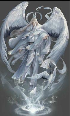 Engel art angel and devil Dark Fantasy Art, Fantasy Artwork, Fantasy Kunst, Dark Artwork, Fantasy Character Design, Character Design Inspiration, Character Art, Angel Warrior, Fantasy Warrior