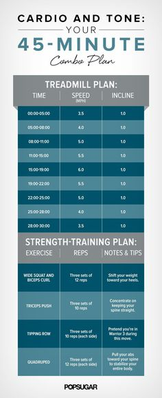 Sweat and Strengthen! 45-Minute Printable Cardio-and-Toning Workout