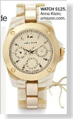 Anne Klein Watch, $125 clipped from Marie Claire using Netpage.