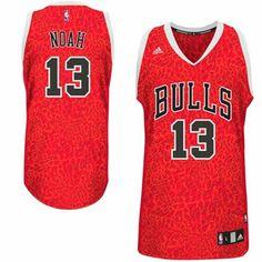 adidas Joakim Noah Chicago Bulls Crazy Light Swingman Jersey - Red 5940b584c
