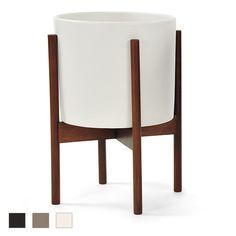 Urbilis - Case Study Cylinder Planter with Wood Stand, $149.00 (http://www.urbilis.com/case-study-cylinder-planter-with-wood-stand/)