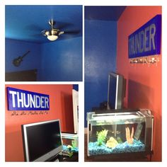 OKC Thunder Bedroom By Mai | Koltonu0027s New Basketball Room | Pinterest |  Sypialnie