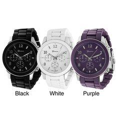 Geneva Platinum Men's Chronograph-style Link Watch | Overstock.com