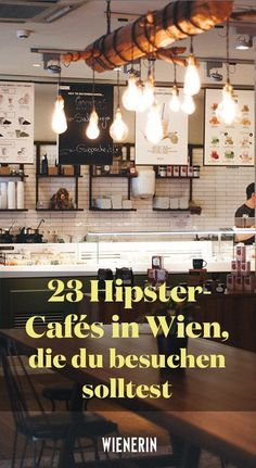 23 hipster cafes in Vienna that you should visit- 23 Hipster-Cafés in Wien, die ihr besuchen solltet Where you are in your slurp and feel like in Berlin. Burger Bar, Cafe Restaurant, Hipster Cafe, Berlin, Dubai Skyscraper, Food Spot, Travel Tags, Co Working, Engagement Ring Cuts
