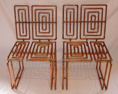 TJ Volonis copper tubing chairs#Repin By:Pinterest++ for iPad#