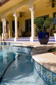 Cool Pool Tile Succulents Water Features And Gardens