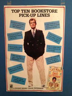 Top ten bookstore pick-up lines