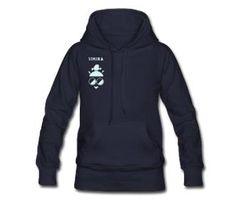Woman sweatshirt with Flock print