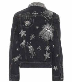 Eloise beaded denim jacket by: Isabel Marant Edgy Outfits, Pretty Outfits, Cool Outfits, Diy Fashion, Ideias Fashion, Fashion Outfits, Custom Clothes, Diy Clothes, Isabel Marant