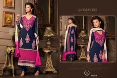 Latest New Cut Style Long Designer Salwar Kameez  visit www.ekhantil.com for wholesale or call us 8401003333(Monica Patel)