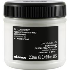 Davines OI Conditioner (135 ILS) ❤ liked on Polyvore featuring beauty products, haircare, hair conditioner, fillers, beauty, makeup, cosmetics, hair, colorless and straight iron