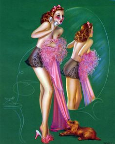 1941 Pin Up Girl Picture by DeVorss - Cocker Spaniel Pulling Dress Off Blond Love Photography, Fashion Photography, Olivia De Berardinis, Earl Moran, Calendar Girls, Stunning Women, Gossip Girl, Beautiful Artwork, Pin Up Girls