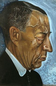 Portrait of Sergei Rachmaninoff by Boris Grigoriev (Russian, 1886 - 1939)
