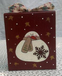 Snowman Block by debbyvg on Etsy, $8.00
