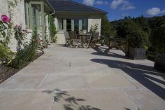 Beautiful limestone patio from Artisans of Devizes. www.artisansofdevizes.com