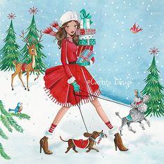 Christmas Holiday Illustration & Products by Caroline Bonne-Muller at Cartita Design