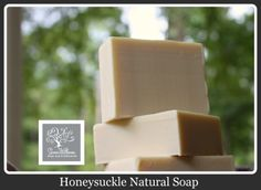 A delightfully scented soap and one of our best sellers.  You will love the sweet but light scent of honeysuckle.  Made with our favorite oils of olive, rice, coconut, avocado, organic shea and palma christi oils.