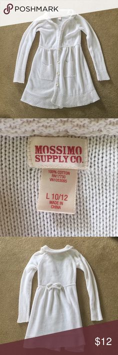 Girls Button Front Sweater Dress or Long Cardigan Absolutely adorable.  Can be worn as a dress or a jacket.  Very versatile. Mossimo Supply Co Shirts & Tops Sweaters