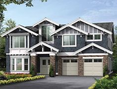 Eplans Craftsman House Plan - Gables And Dormers Add Vaulted Ceilings And Light - 4348 Square Feet and 5 Bedrooms(s) from Eplans - House Plan Code HWEPL59033