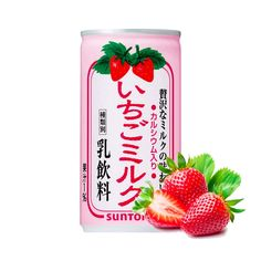 SUNTORY Strawberry Milk Nectar 190g x 3 Cans - Made in Japan - TAKASKI.COM