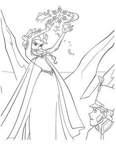 Coloriages Gratuits Et A Imprimer La Reine Des Neiges De Disney Frozen Coloring SheetsElsa