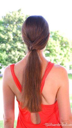 Haar-Haargummi: Ein tiefer Pferdeschwanz einmal anders Fashion, Quick Work Hairstyles, Tutorials, Nice Asses, School, Cooking, Moda, Fasion, Trendy Fashion