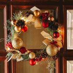 Ornament Wreath, Ornaments, Christmas Wreaths, Holiday Decor, Home Decor, Decoration Home, Room Decor, Decorations, Ornament