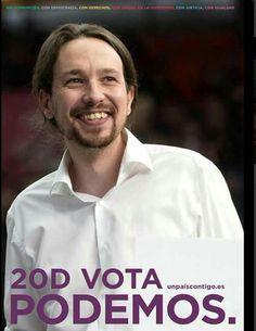 Cartel Pablo Iglesias, Podemos, elecciones generales diciembre 2015
