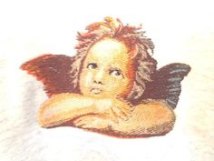 Cherub Angel Cupid Embroidery Sweatshirt Heavyweight Adult Large Gray #Unbranded #Sweatshirt