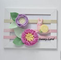 Детская бижутерия ручной работы. Детская повязка. Sunny Land (sunnyland). Ярмарка Мастеров. Повязка с цветами, подарок крестнице