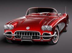 '58 Chevy Corvette ~ superdeportivos de engranajes superior coches rápidos
