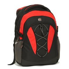 "SwissGear by Wenger NORITE 16"" Student Laptop Computer Backpack Black/Red NWT"