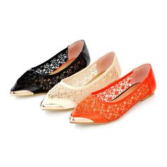 Fashion Women's Casual Lace Pointed Toe Flats